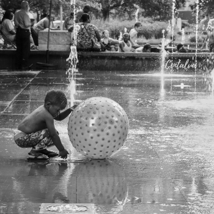 black and white kid